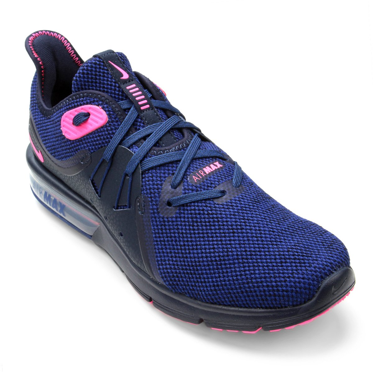 Tênis Nike Air Max Fury Sequent 3 Feminino Azul e Rosa