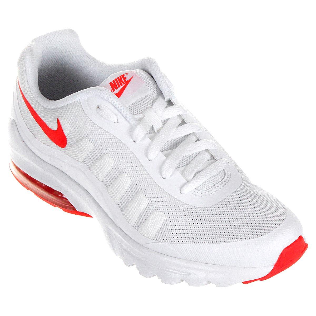 024a663dc4 Tênis Nike Air Max Invigor Masculino - Branco e Vermelho - Compre Agora