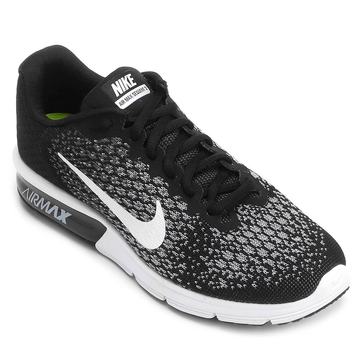Tênis Nike Air Max Sequent 2 Feminino - Preto e Branco - Compre ... 218135165c