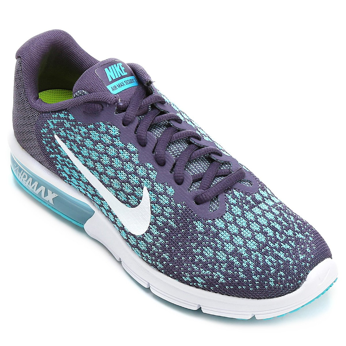 887675cec5753 Tênis Nike Air Max Sequent 2 Feminino - Roxo e Azul - Compre Agora ...