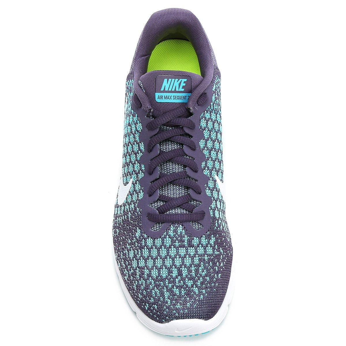 Tênis Nike Air Max Sequent 2 Feminino - Roxo e Azul - Compre Agora ... 2699f4119cc0c