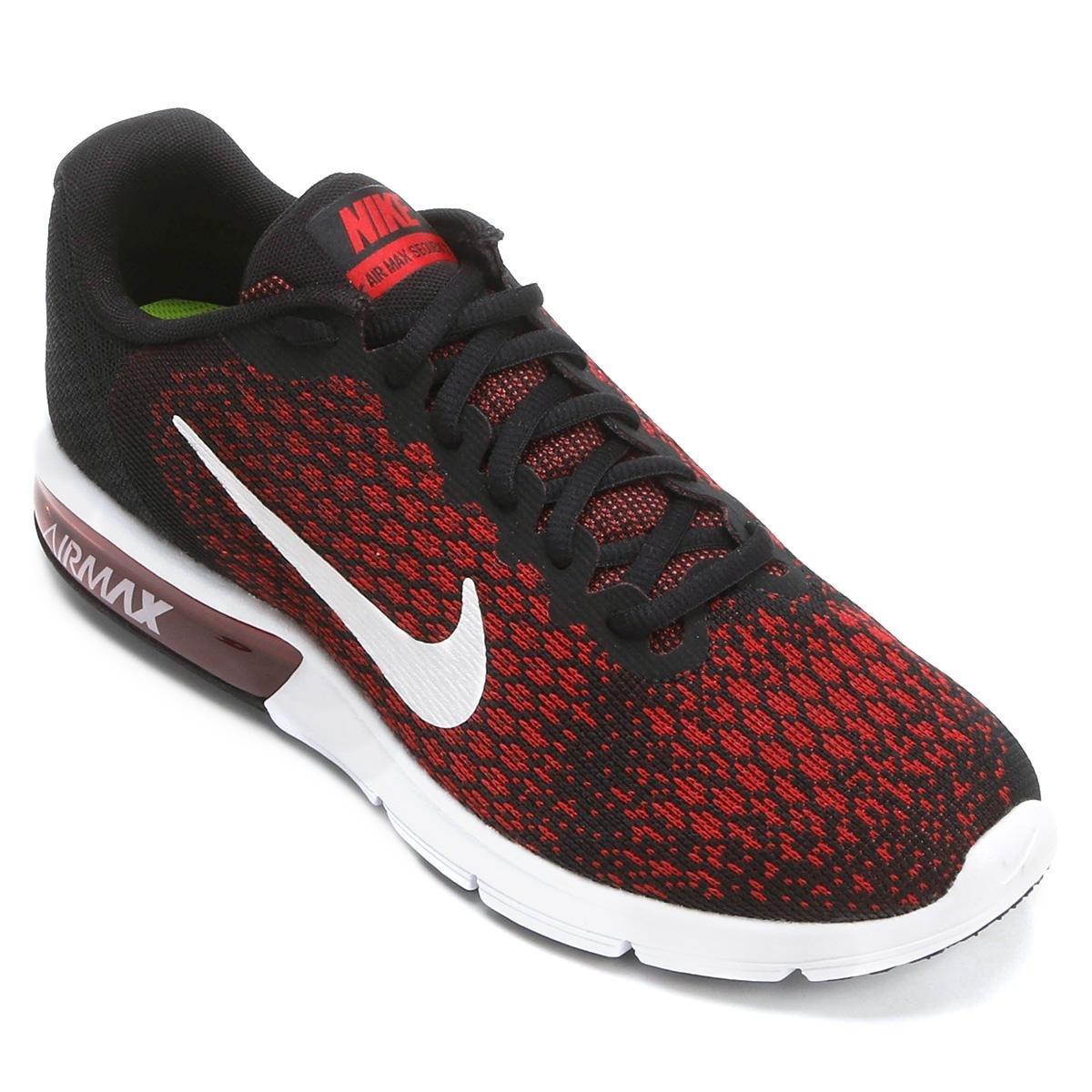 Tênis Nike Air Max Sequent 2 Masculino Preto e Vermelho