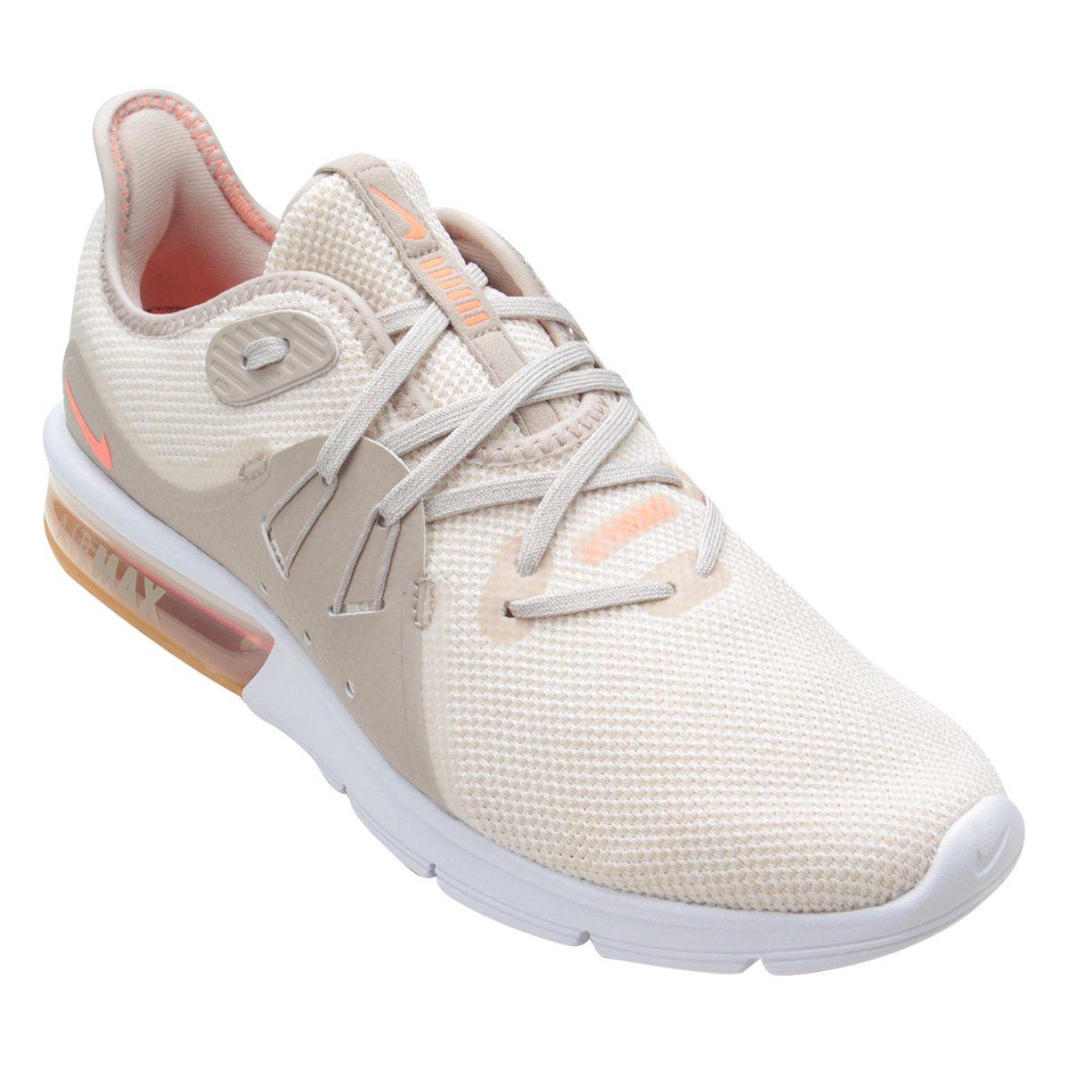 3e0e471407 Tênis Nike Air Max Sequent 3 Summer Feminino - Creme - Compre Agora ...