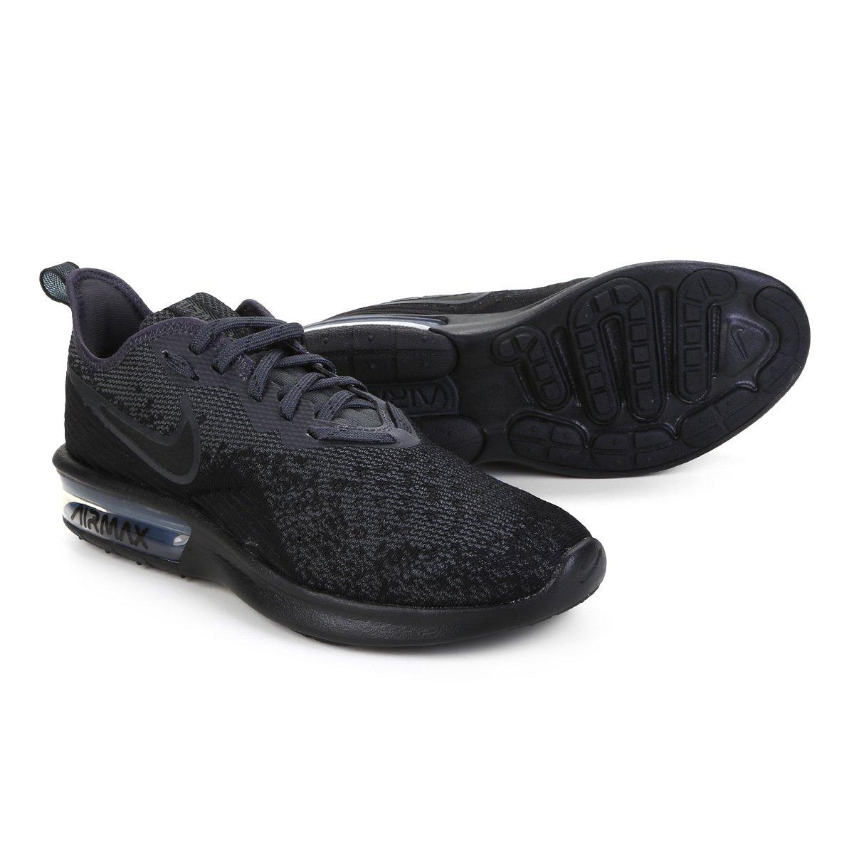 f2ed00cefa9 Tênis Nike Air Max Sequent 4 Feminino - Preto - Compre Agora