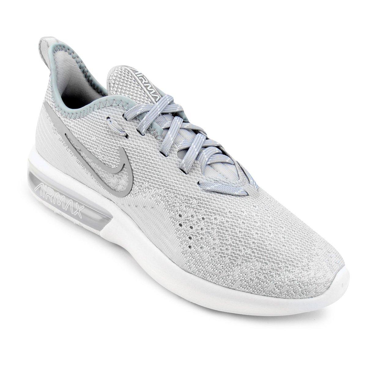 34af69cc9db Tênis Nike Air Max Sequent 4 Feminino - Cinza e Branco - Compre Agora