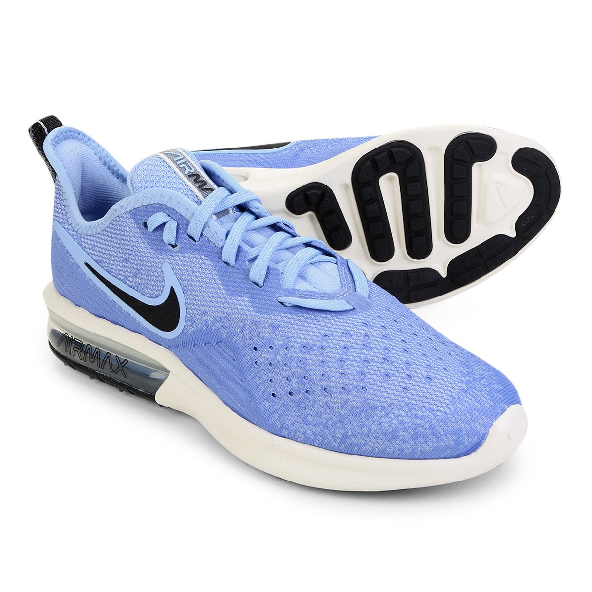 807f1b5637 Tênis Nike Air Max Sequent 4 Feminino - Azul Claro - Compre Agora ...