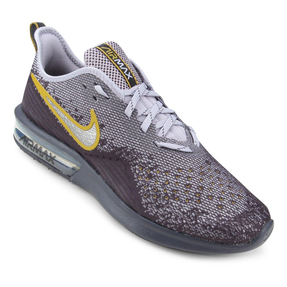 0c72606a7 Tênis Nike Air Max Sequent 4 Masculino - Cinza e Roxo | Shop Timão