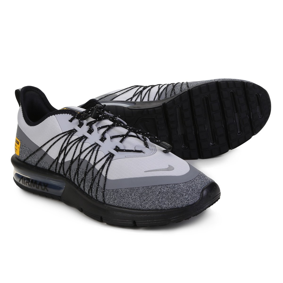 uk availability 5032b e8161 Tênis Nike Air Max Sequent 4 Utility Masculino - Cinza e Preto   Shop Timão