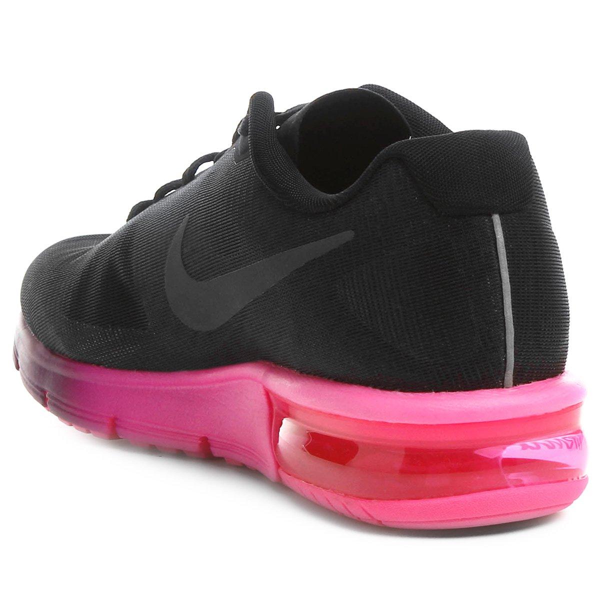 new products 13178 8c0db ... tênis nike air max sequent feminino preto e rosa
