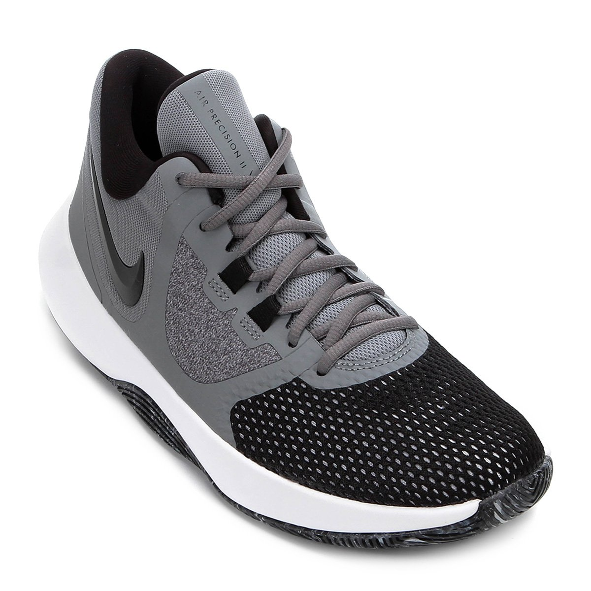 4f6b463814 Tênis Nike Air Precision II Masculino - Cinza e Preto