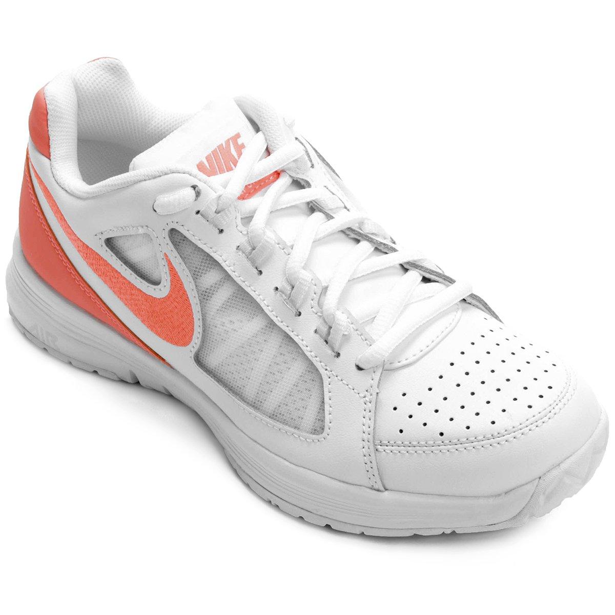 873e4c7171 Tênis Nike Air Vapor Ace Feminino - Branco e Salmão - Compre Agora ...