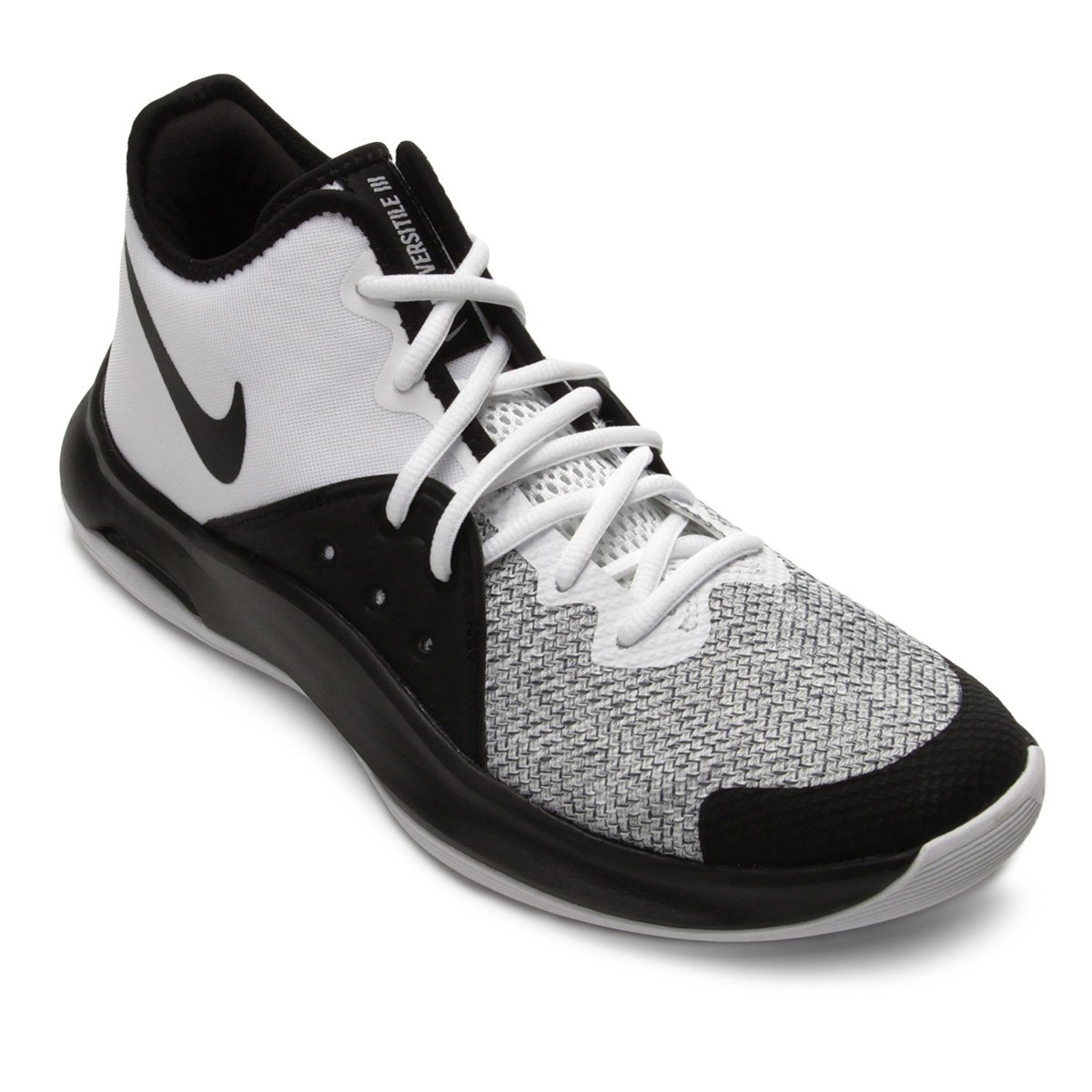 e88cf6f90 Tênis Nike Air Versitile III Masculino - Branco e Preto | Shop Timão
