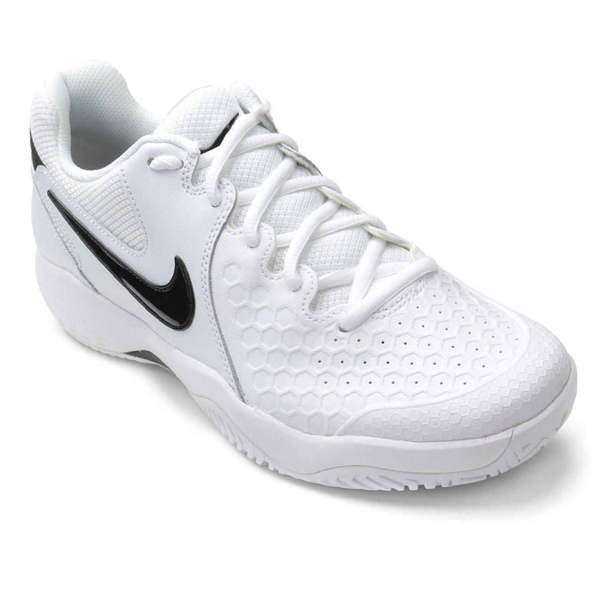 Tênis Nike Air Zoom Couro Resistance Masculino Branco E Preto