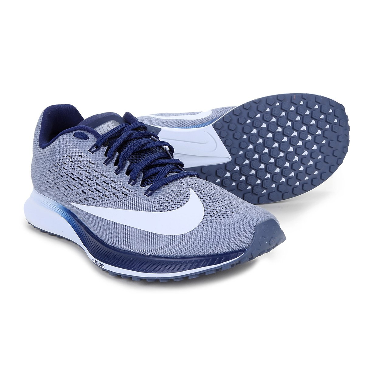 9c6e891bd75 Tênis Nike Air Zoom Elite 10 Masculino - Cinza e Azul - Compre Agora ...