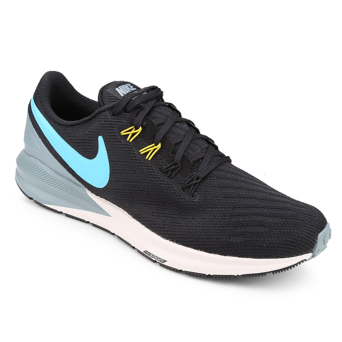 df8a8bb8507503 Tênis Nike Air Zoom Structure 22 Masculino - Preto e Azul | Shop Timão