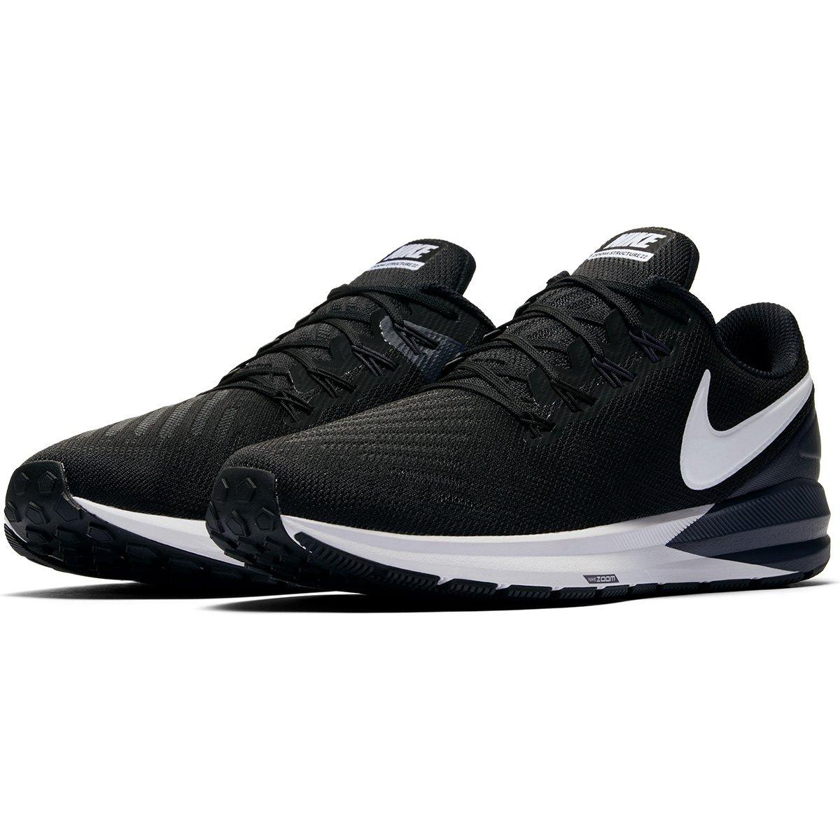 4ff72757e9301 Tênis Nike Air Zoom Structure 22 Masculino - Preto e Branco | Shop Timão