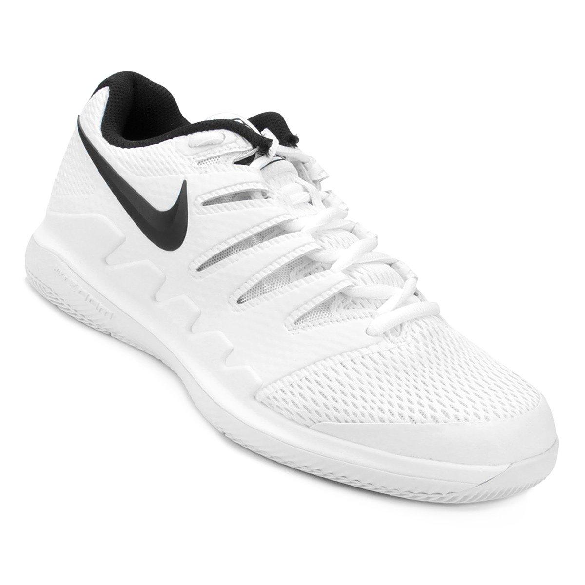 225201831 Tênis Nike Air Zoom Vapor X HC Masculino - Branco e Preto - Compre Agora