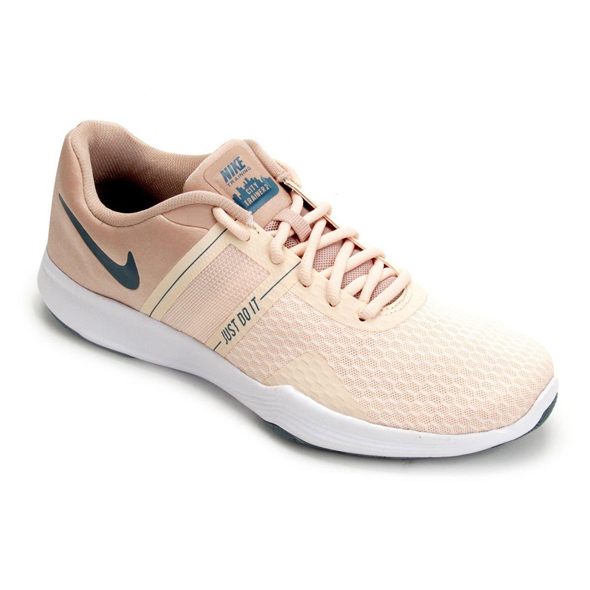 ed74aedecea09 Tênis Nike City Trainer 2 Feminino - Bege e Verde - Compre Agora ...