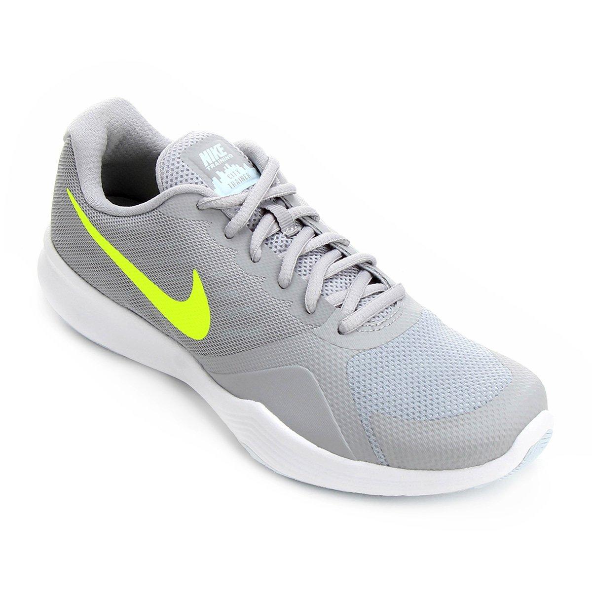 d33d495a26 Tênis Nike City Trainer Feminino - Cinza e Amarelo - Compre Agora ...