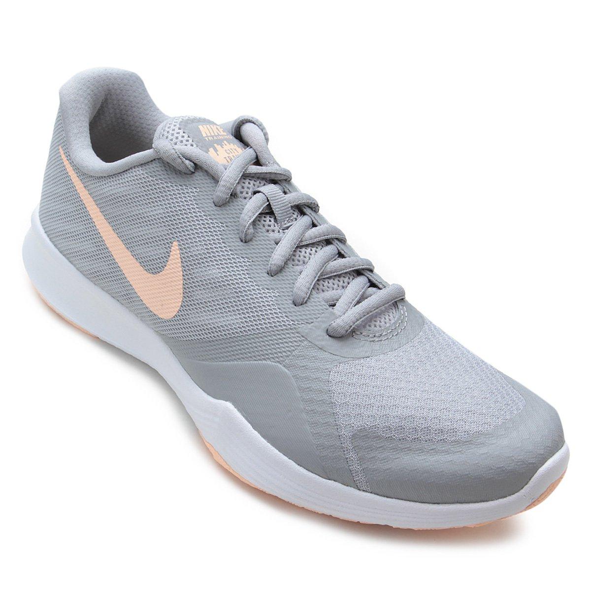 Tênis Nike City Trainer Feminino - Cinza e Salmão - Compre Agora ... fab4152fd879e