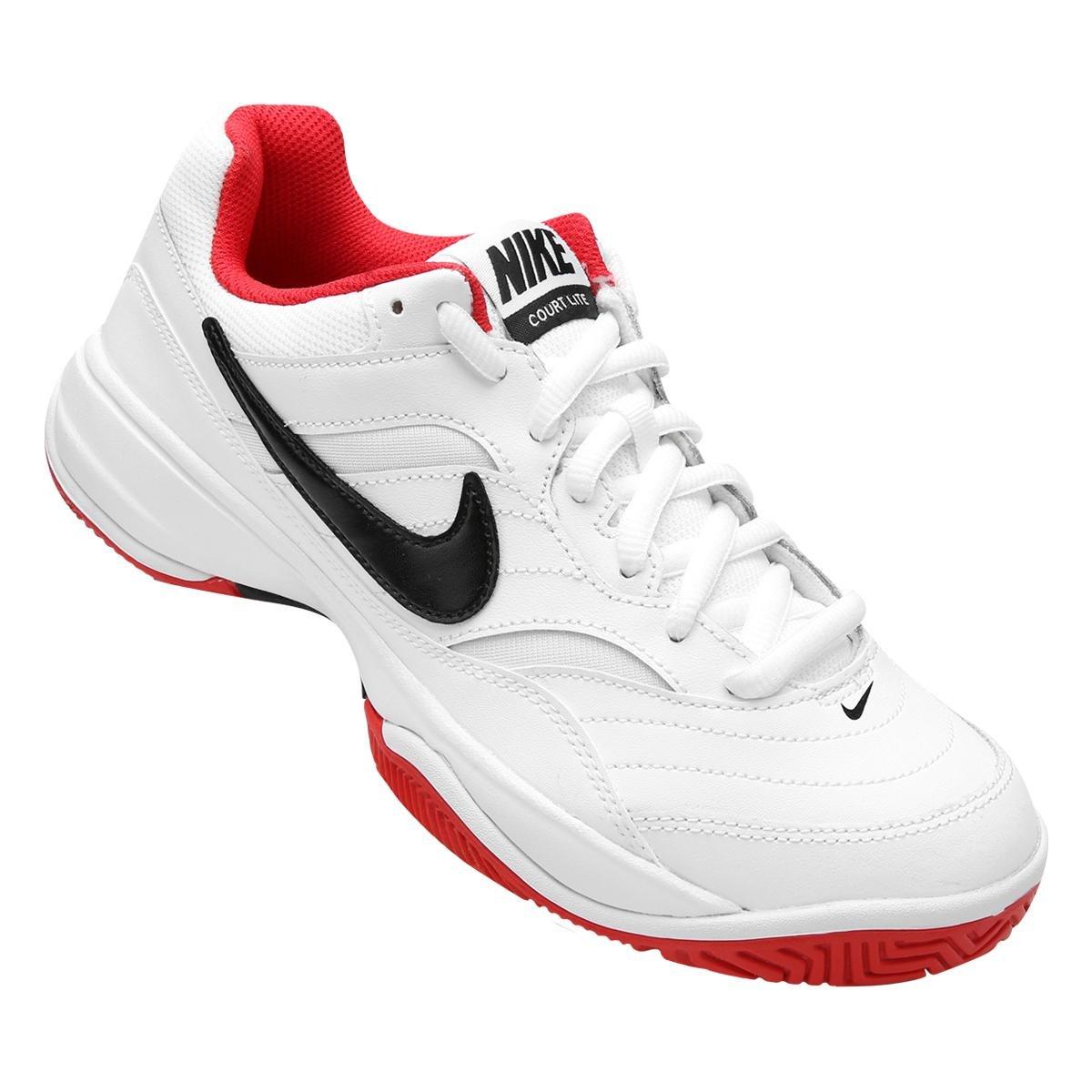 570cf802f7 Tênis Nike Court Lite Masculino - Branco e Vermelho - Compre Agora ...