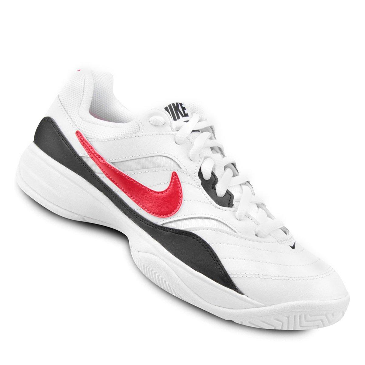 e7de777c4e Tênis Nike Court Lite Masculino - Gelo e Vermelho - Compre Agora ...