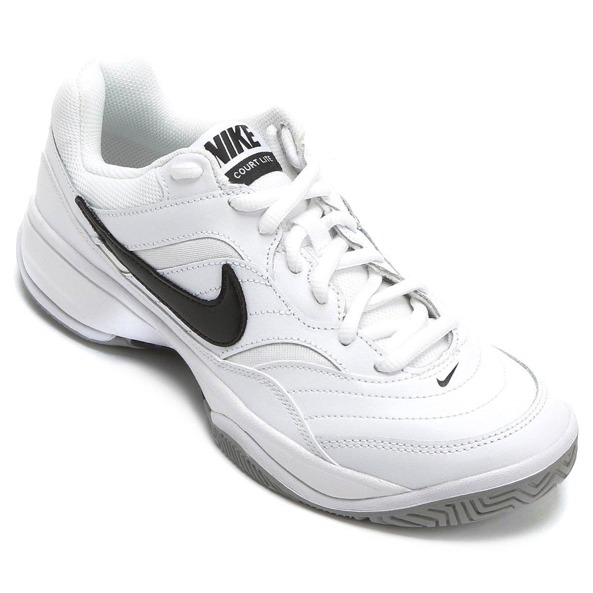 32d3e2d48c8 Tênis Nike Court Lite Masculino - Branco e Preto - Compre Agora ...
