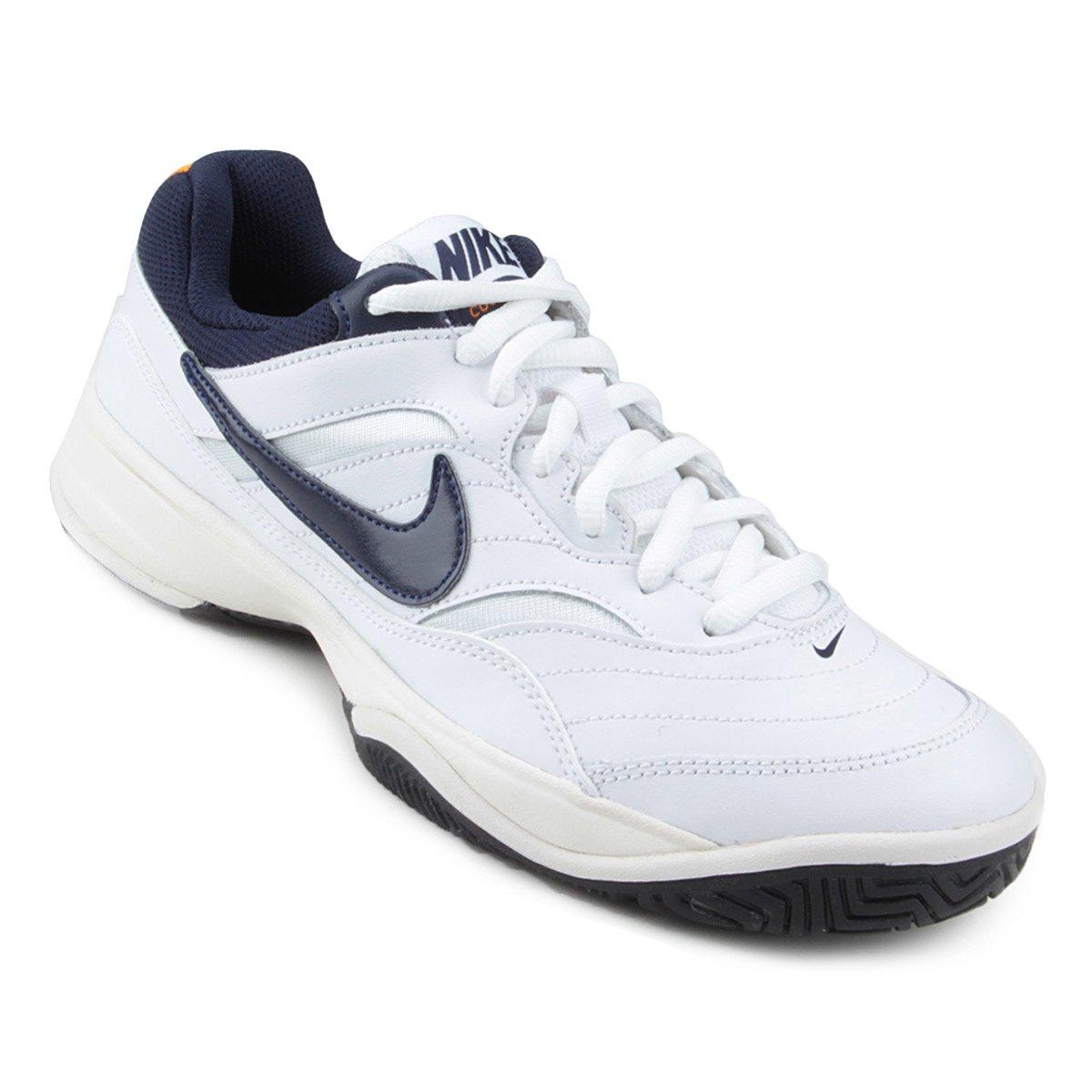 979e894b19 Tênis Nike Court Lite Masculino - Branco e Marinho - Compre Agora ...