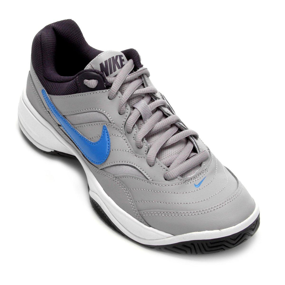 01dacd9fb80ee Tênis Nike Court Lite Masculino - Cinza e Azul Claro   Shop Timão