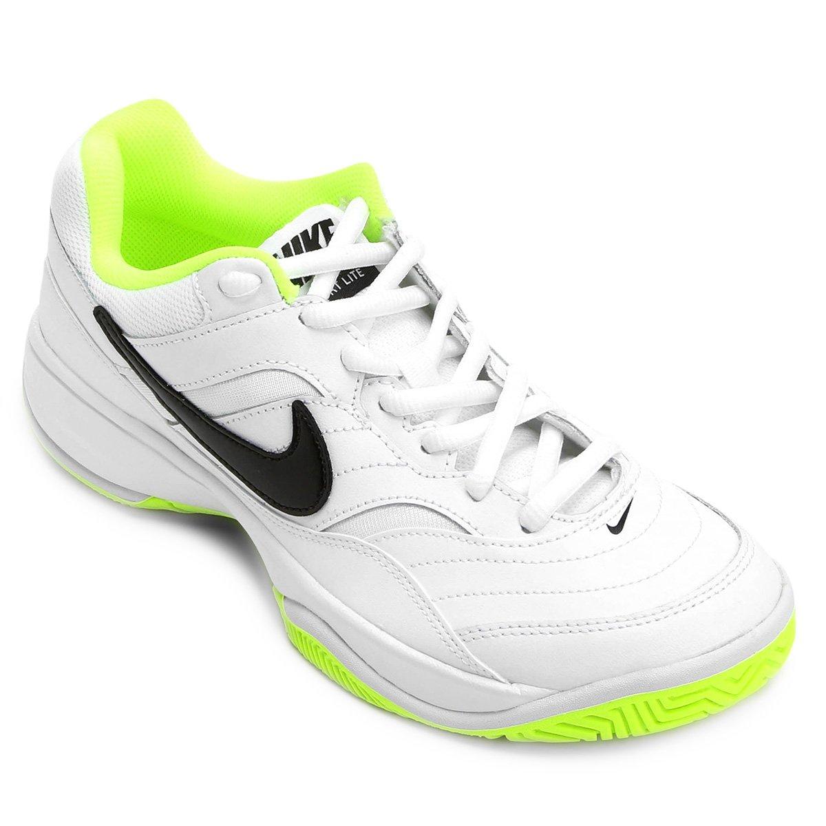 5f963dbeb6 Tênis Nike Court Lite Masculino - Branco e Verde Limão - Compre Agora