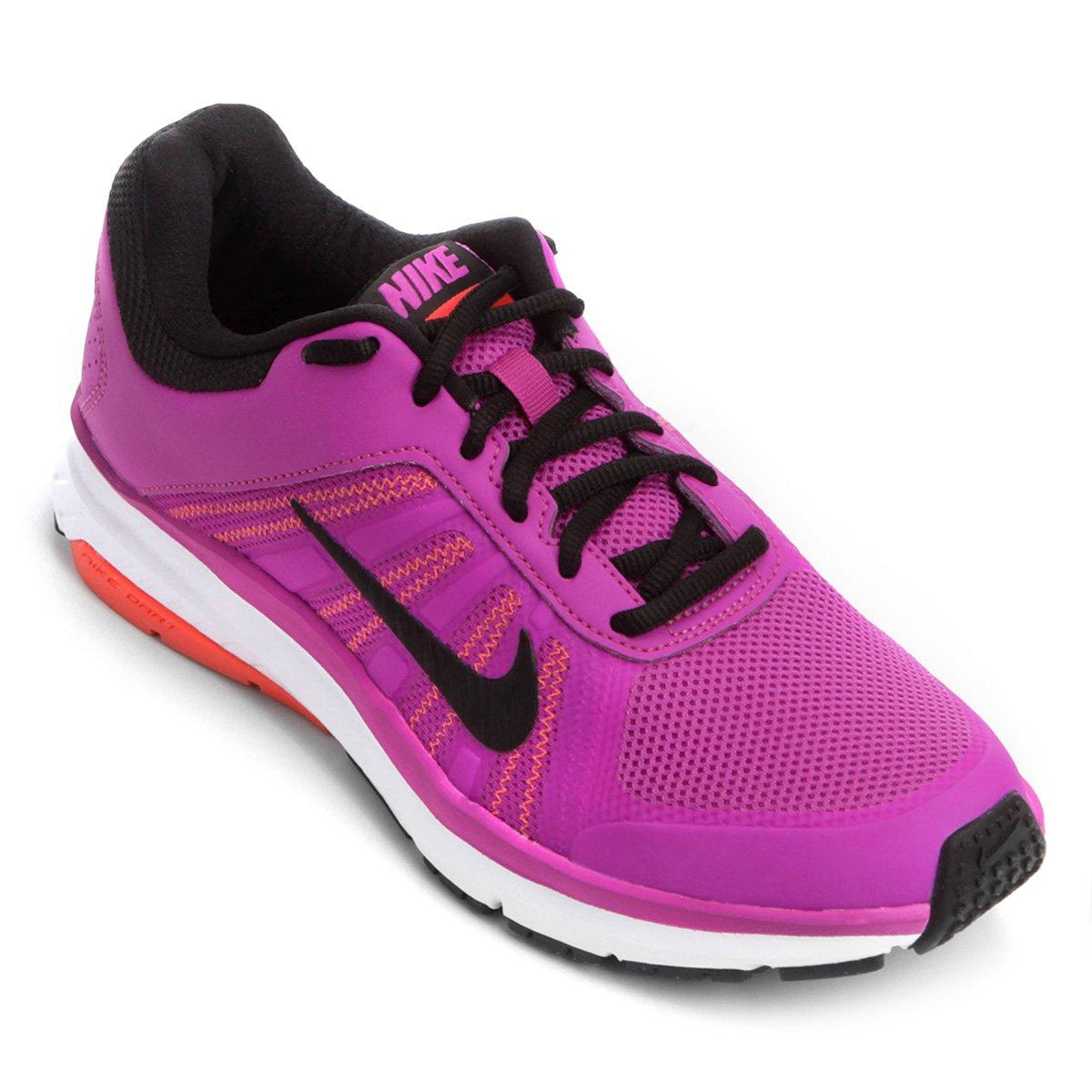 2b296b9b0e7 Tênis Nike Dart 12 MSL Feminino - Violeta e Branco - Compre Agora ...