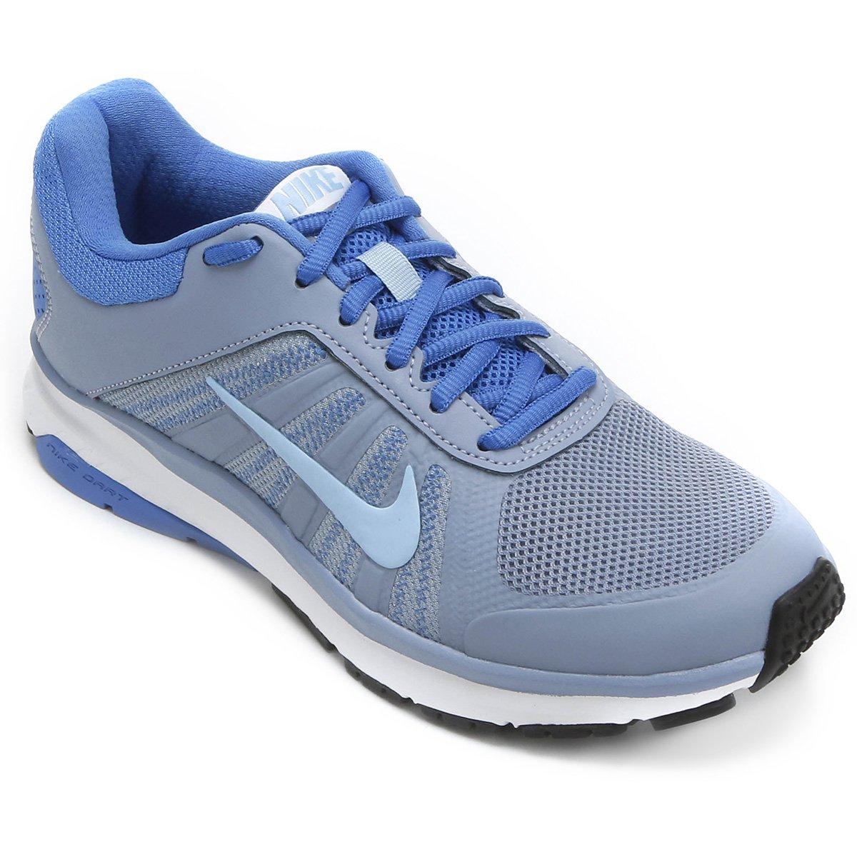 new arrival 6dba5 3b5eb Tênis Nike Dart 12 MSL Feminino - Cinza e Azul - Compre Agora  Shop Timão