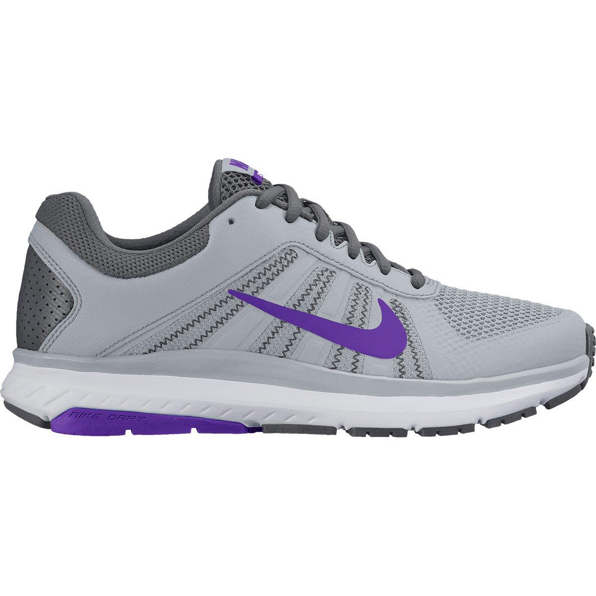 644298c5254 Tênis Nike Dart 12 MSL Feminino - Cinza e Roxo - Compre Agora