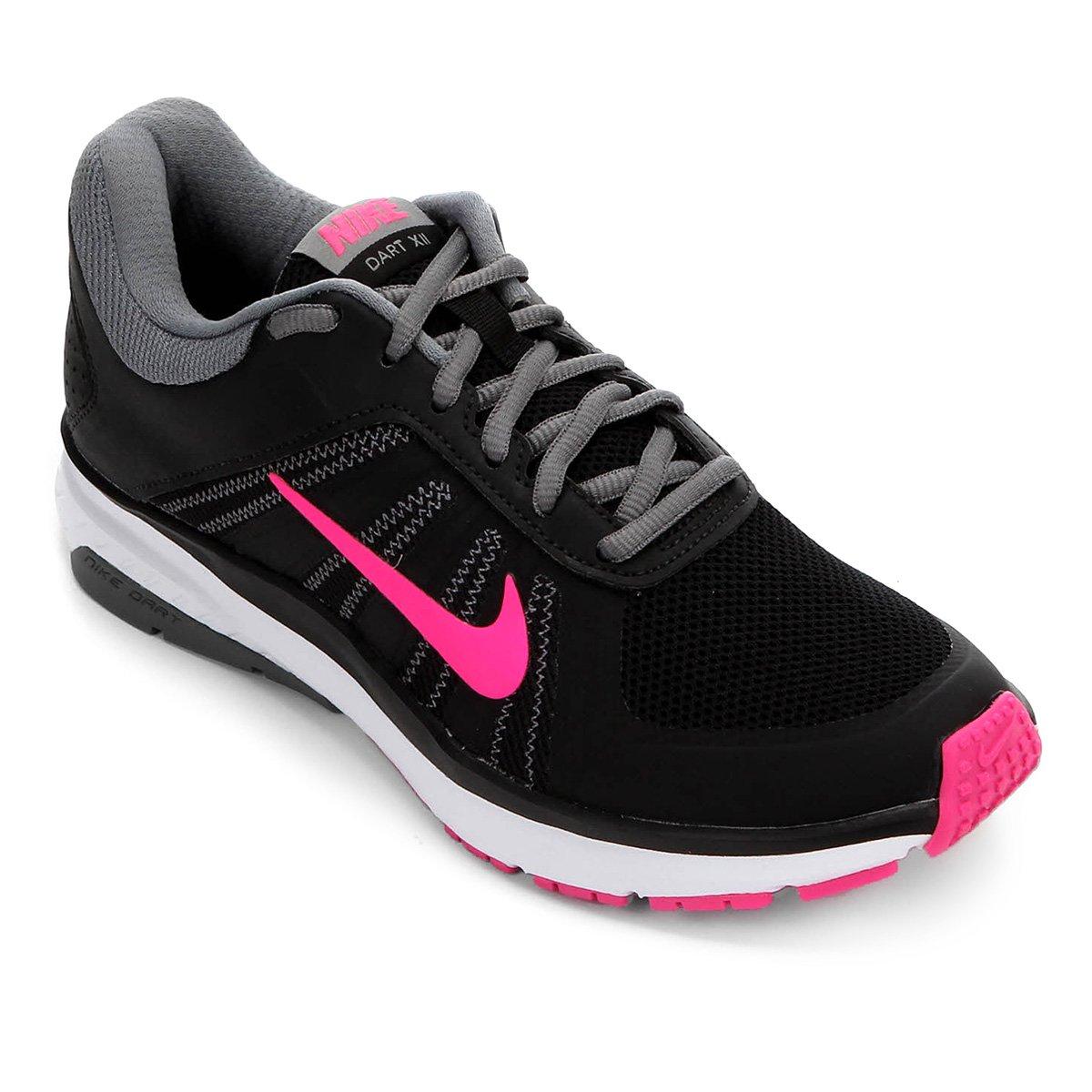 b0610109c9894 Tênis Nike Dart 12 MSL Feminino - Preto e Pink - Compre Agora