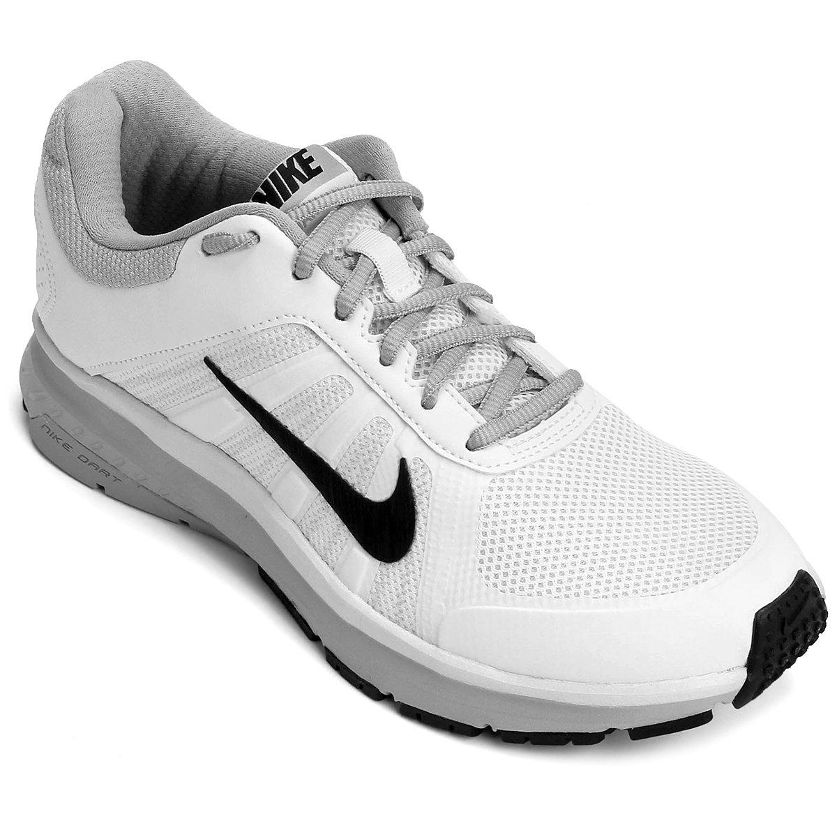 992f64f24110f Tênis Nike Dart 12 MSL Feminino - Branco e Preto - Compre Agora ...