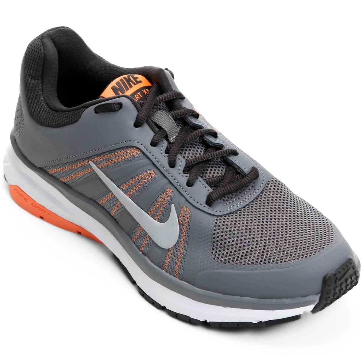 0b31a87cc27 Tênis Nike Dart 12 MSL Feminino - Cinza e Laranja - Compre Agora ...