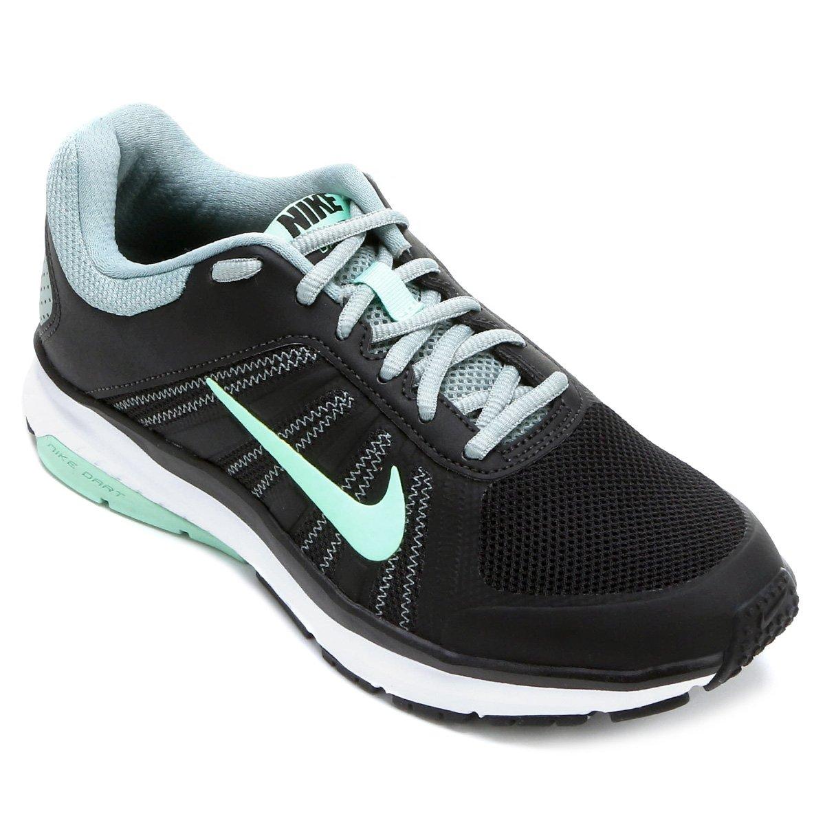 877e39495a0af Tênis Nike Dart 12 MSL Feminino - Preto e Verde Água - Compre Agora ...