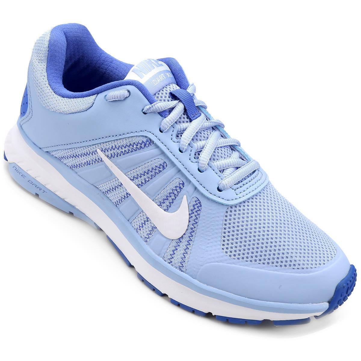 53f80e8d96 ... best Tênis Nike Dart 12 MSL Feminino - Azul Claro e Azul - Compre Agora  . ...