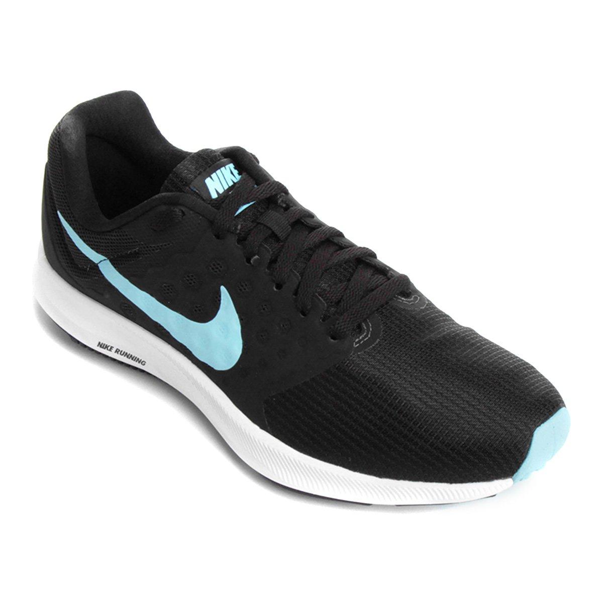 c550aa3211 Tênis Nike Downshifter 7 Feminino - Preto e Azul - Compre Agora ...