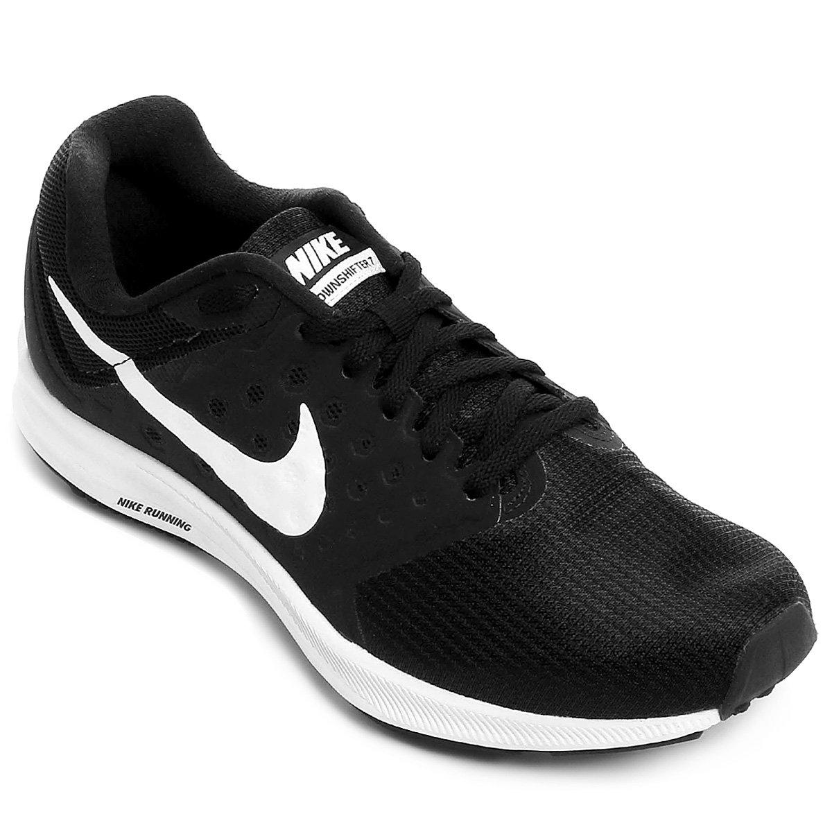 fd546bb477 Tênis Nike Downshifter 7 Feminino - Preto e Branco - Compre Agora ...