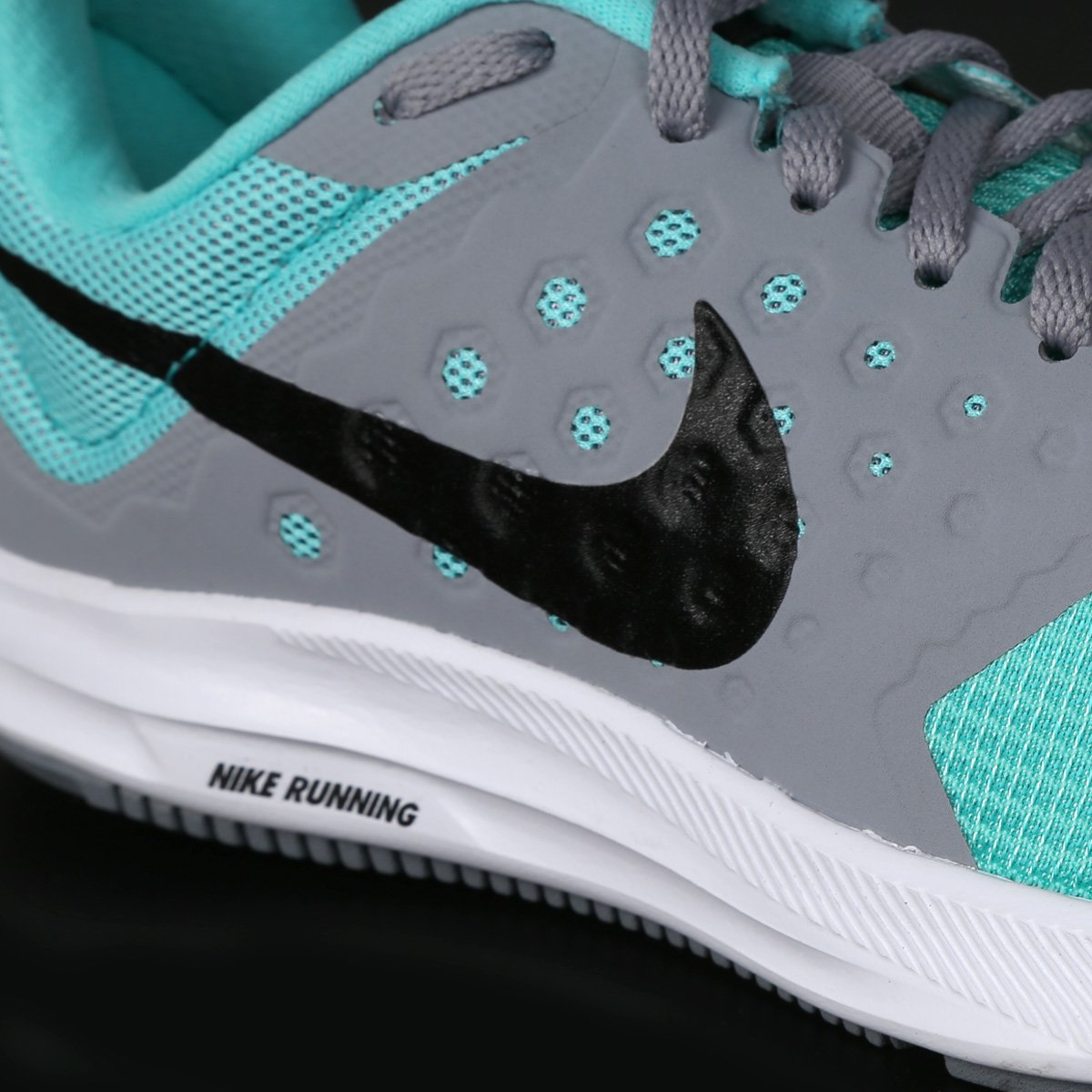 Tênis Nike Downshifter 7 Feminino - Cinza e Verde Água - Compre ... e19d4a729f7ba