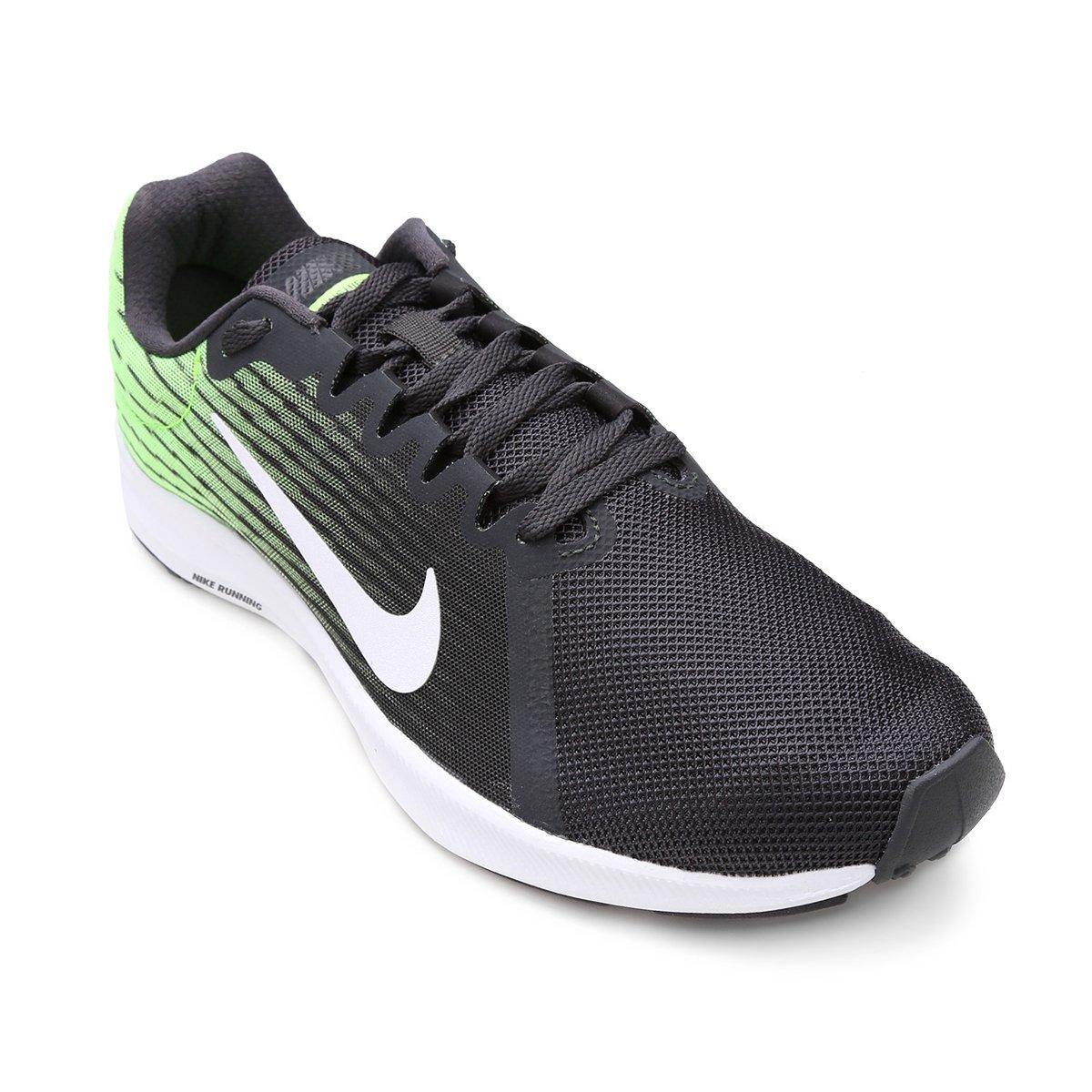 318c8f96ec Tênis Nike Downshifter 8 Masculino - Preto e verde - Compre Agora ...