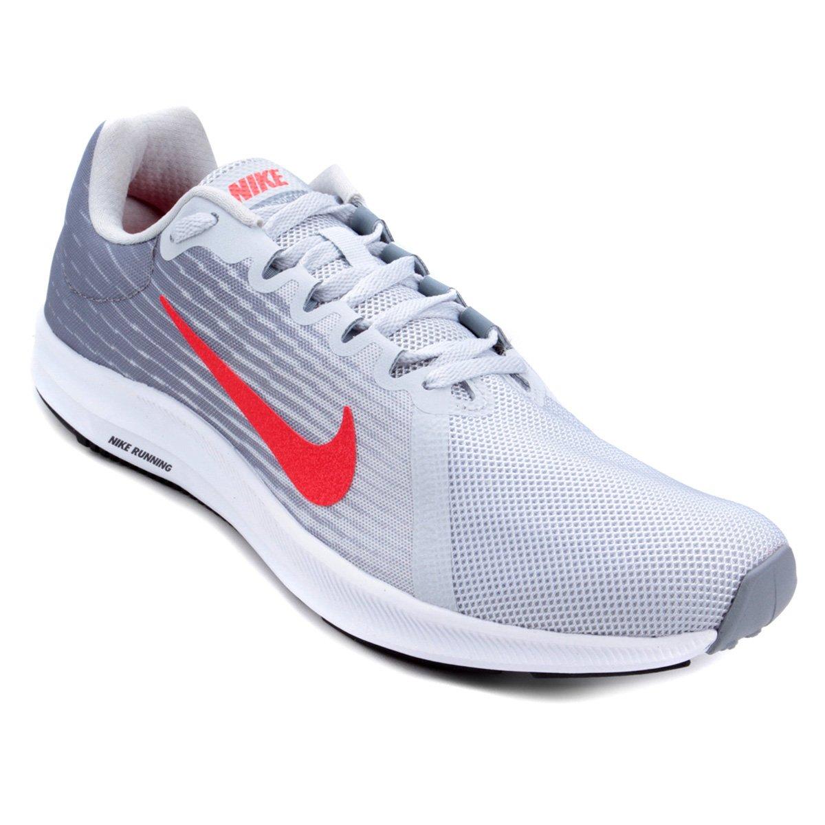 Tênis Nike Downshifter 8 Masculino - Prata e Vermelho - Compre Agora ... 46d0965632b11