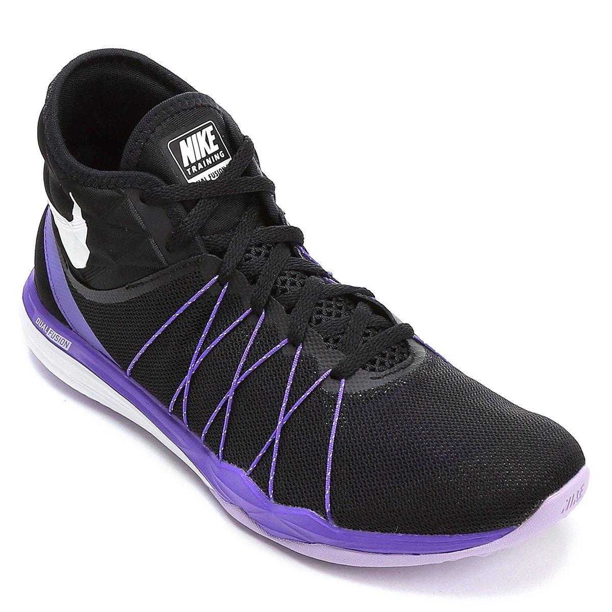 5395fb7cd Tênis Nike Dual Fusion TR Hit Feminino - Preto e Roxo | Shop Timão