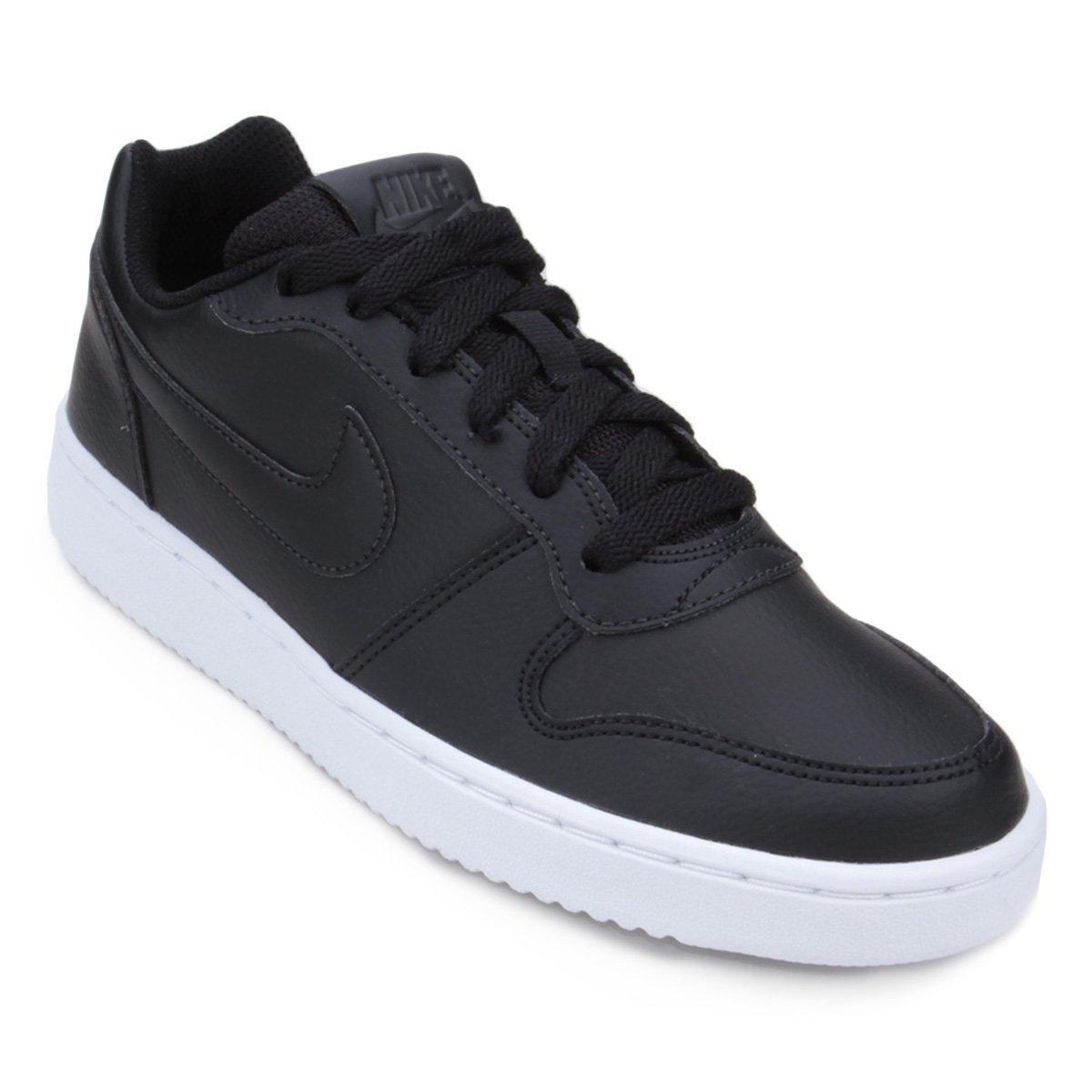 Tênis Nike Ebernon Low Feminino - Preto - Compre Agora  df2b1390884a9