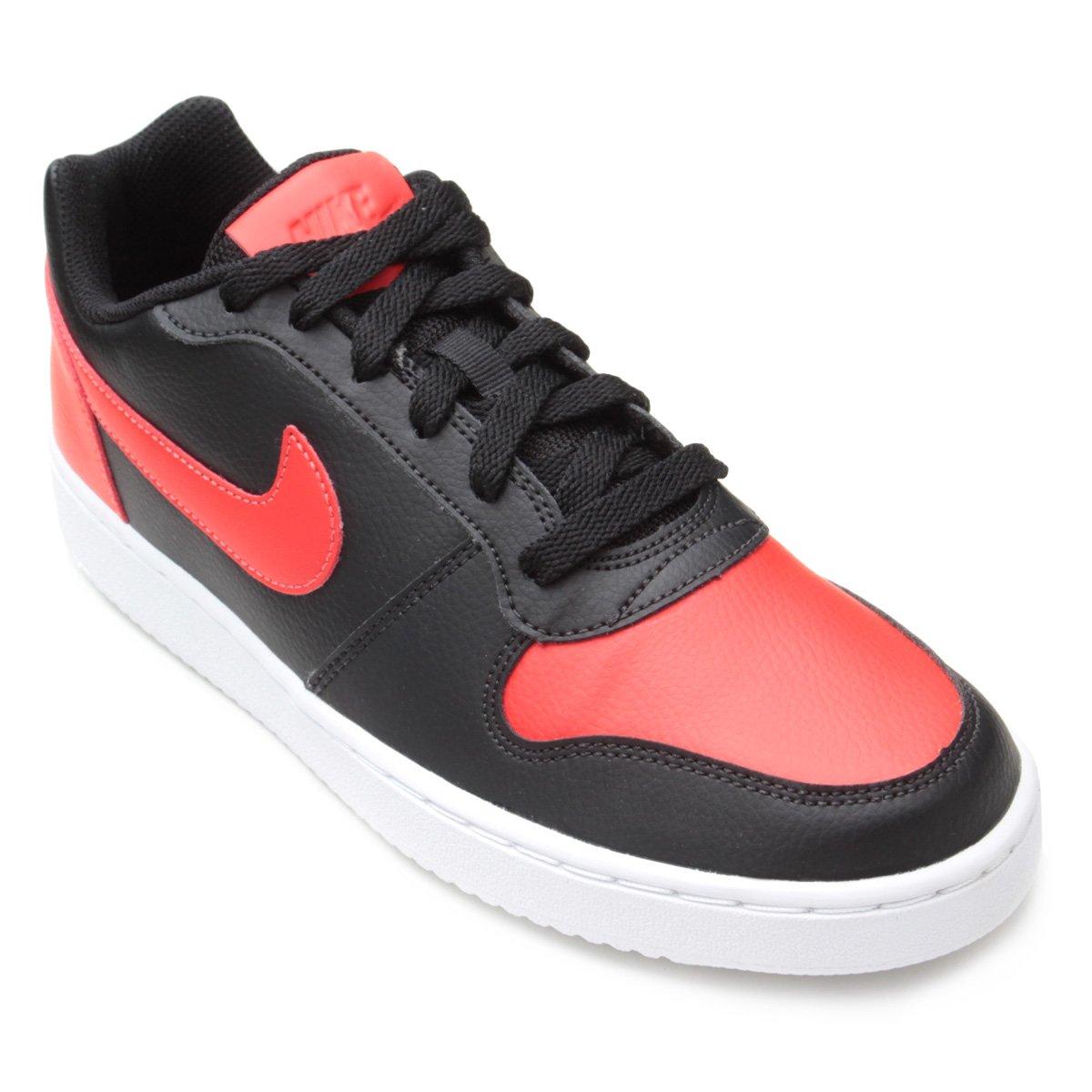Tênis Nike Ebernon Low Masculino - Preto e Vermelho - Compre Agora ... c299d69d8c3