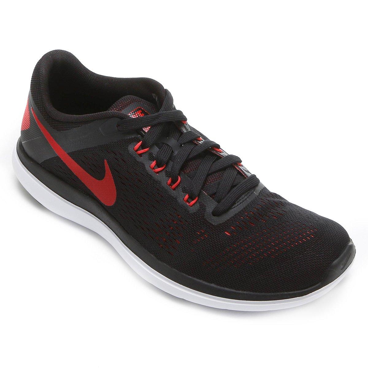 0fe1bf88b7 Tênis Nike Flex 2016 RN Masculino - Preto+Vermelho