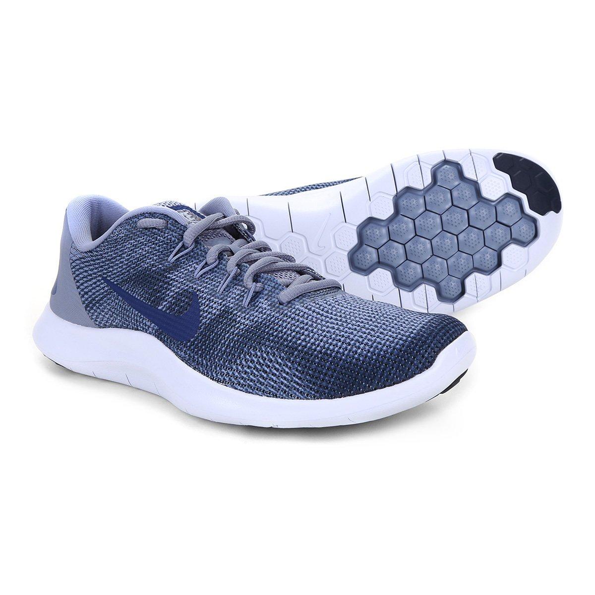 6348122c696 Tênis Nike Flex 2018 Rn Masculino - Azul e Cinza - Compre Agora ...