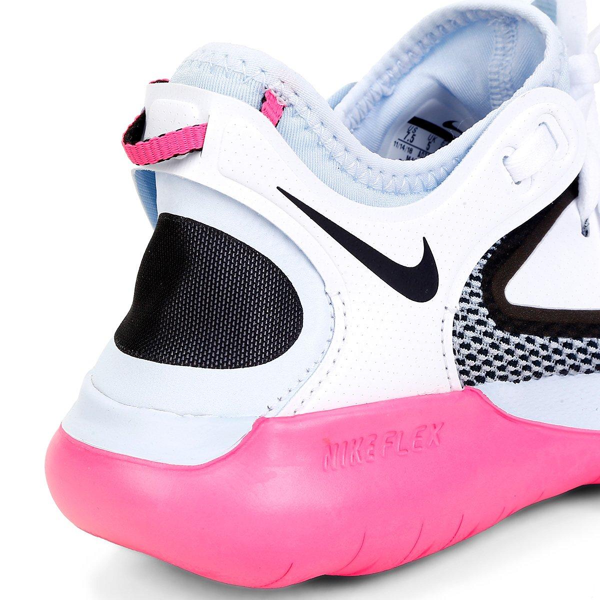 Tênis Nike Flex 2019 Run Feminino Rosa e Cinza