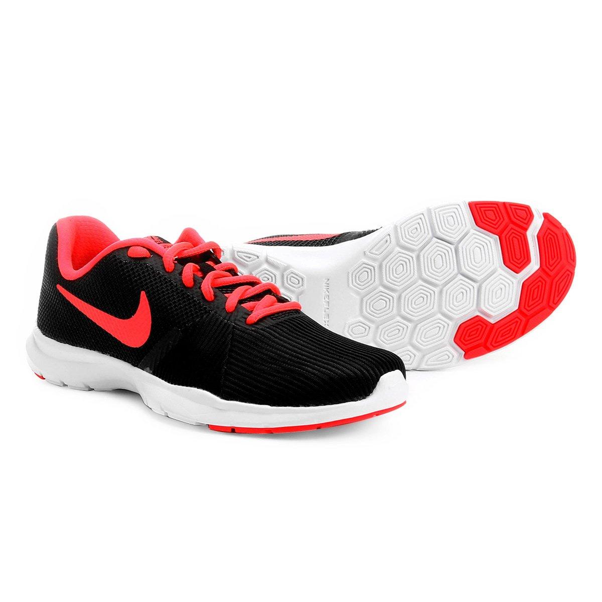 3bbe31fd107 Tênis Nike Flex Bijoux Feminino - Preto e Vermelho - Compre Agora ...